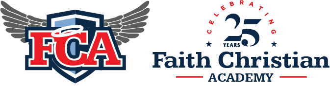 Faith Christian Academy 25 Year Anniversary Logo